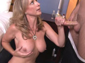 Milf Jodi West gets handjob to her son
