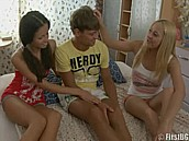 Teen Will Never Forget His Sisters Friends :: Hot girls take advantage of teenager